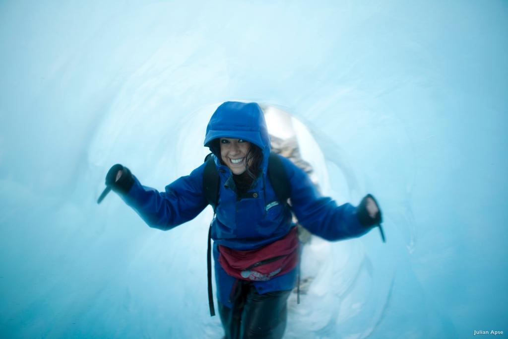Ice tunnel Franz Josef Glacier